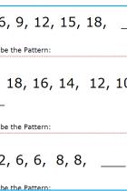 Matematică clasa 1 – Șiruri de numere