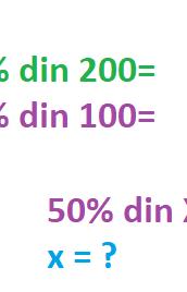 Calcule cu procente